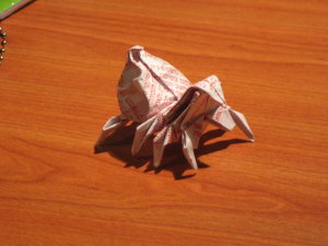 Origami Spider made from a lottery ticket