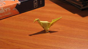 An origami road runner