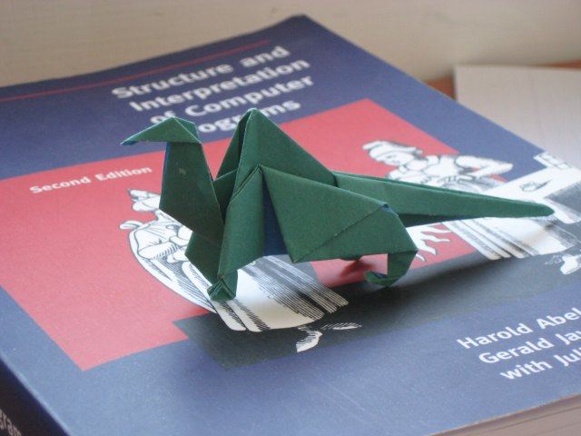 Origami Lizard on Book